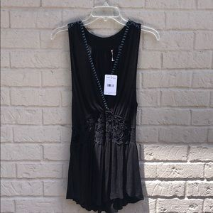 Free People Black Tunic Cover up for swim